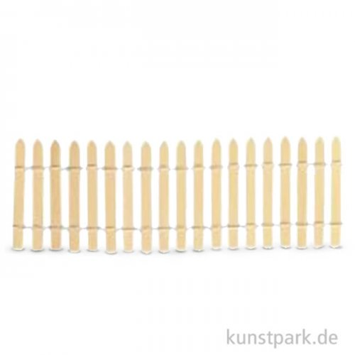 Mini Gartenzaun - Natur 30 cm Länge, 5,5 cm Höhe