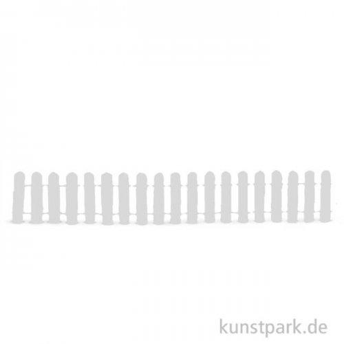Gartenzaun - Weiß 30 cm Länge, 3 cm Höhe