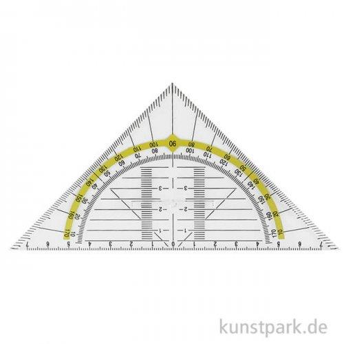 Geodreieck Kunststoff mit Griff, 14 cm