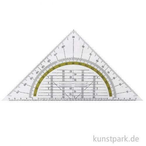 Geodreieck Kunststoff mit Griff, 22 cm