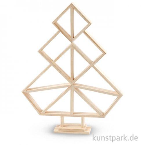 Geometrischer Weihnachtsbaum aus Holz