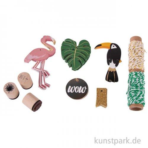 Geschenkanhänger-Set - Tropical