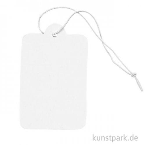 Geschenkanhänger aus starker Pappe - weiß, 100 Stück