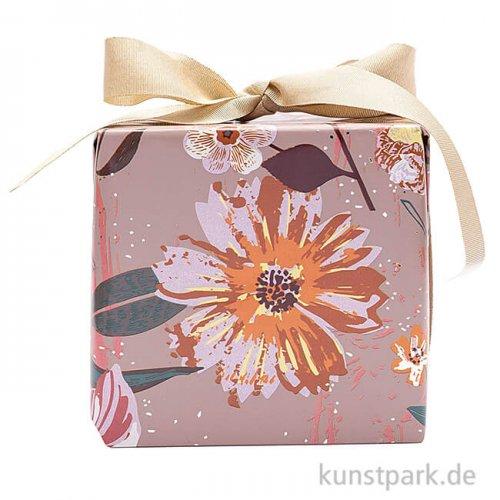 Geschenkpapier - Nature Matters, Blumen, 200 x 70 cm