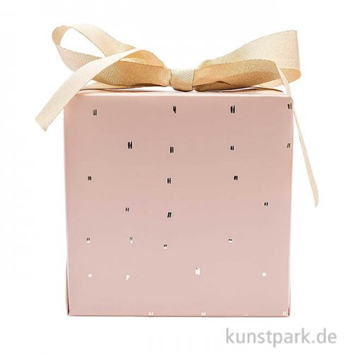 Geschenkpapier - Nature Matters, Rosa, Striche