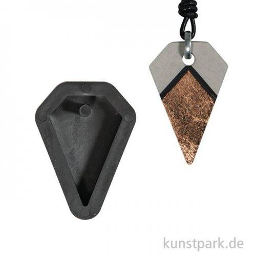 Gießform - Anhänger Diamant, 2,5 x 3,9 cm