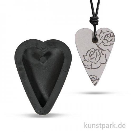 Gießform - Anhänger Herz, 2,7 x 3,9 cm
