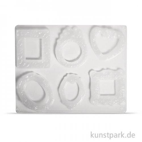 Gießform - Bilderrahmen, 6 Motive, 6,5 - 8 cm