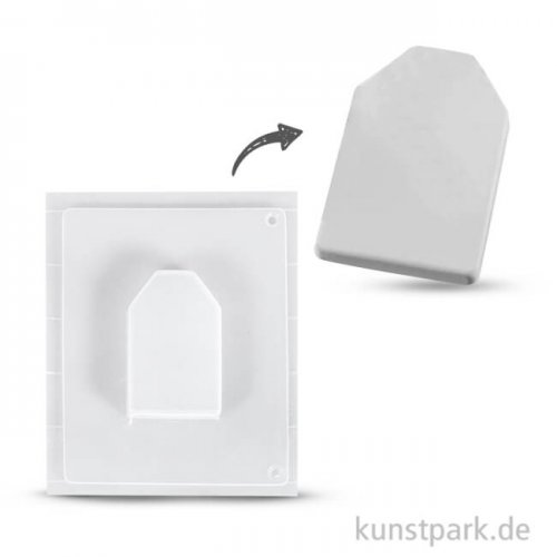Gießform - Geschenkanhänger, Motivgröße 5x8x1,7 cm