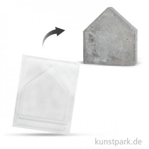 Gießform - Haus, Tiefe 4 cm