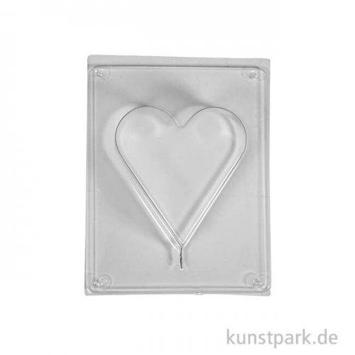 Gießform - Herz, Tiefe 3 cm 8,5 x 9,2 cm