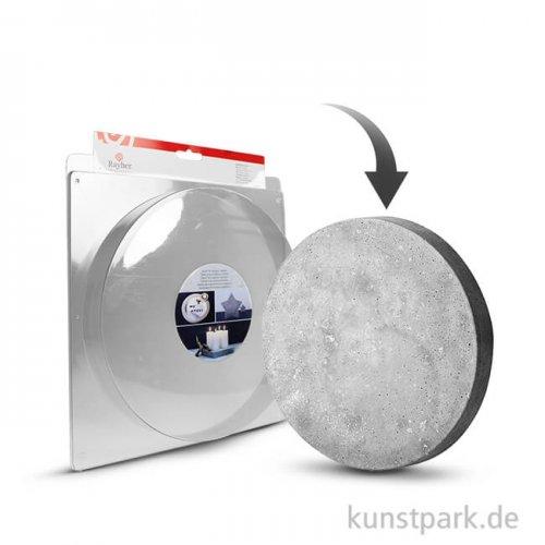 Gießform - Kreis mittel - Durchmesser 18,5 cm, Tiefe 3,5 cm