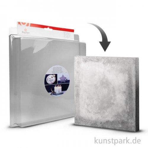 Gießform - Quadrat groß - 25 x 25 cm, Tiefe 4 cm