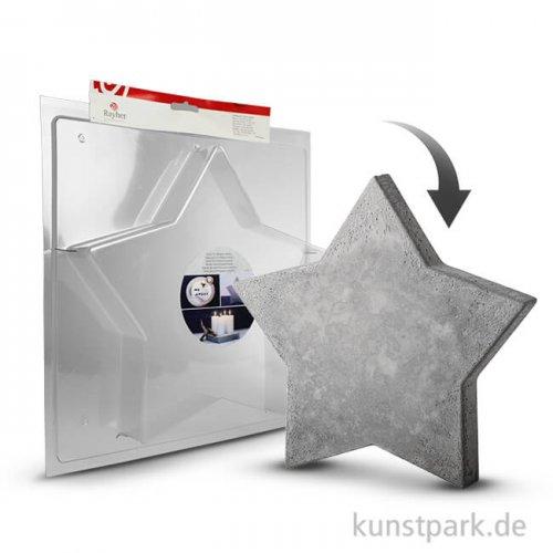 Gießform - Stern groß - 28 x 28 cm, Tiefe 4 cm