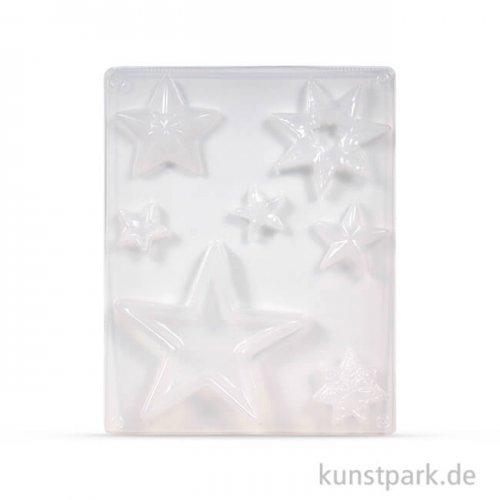 Gießform - Sterne, 7 Motive, 3 - 13 cm