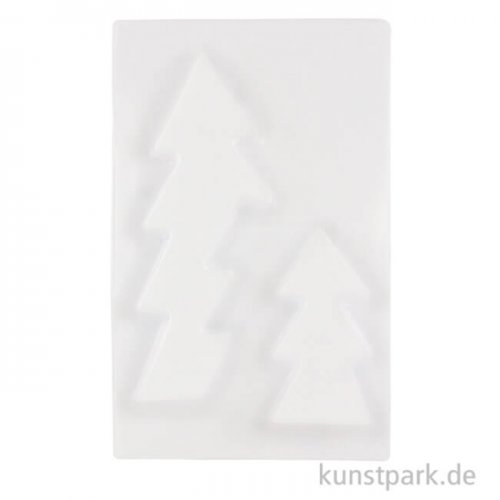Gießform Tannenbaum 2-teilig 14 x 29 x 2,7 cm