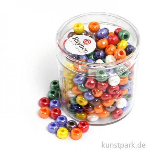 Glas-Großlochradl gemischte Farben, opak 55 g Dose | 6 mm