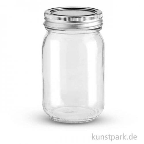 Glas mit 2-teiligem 70 mm Deckel - 420 ml