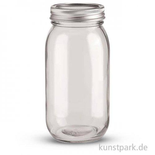 Glas mit 2-teiligem 70 mm Deckel - 650 ml
