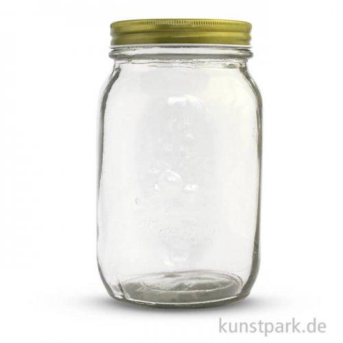 Glas mit Schraubdeckel 1000 ml, Durchmesser 10,5 cm
