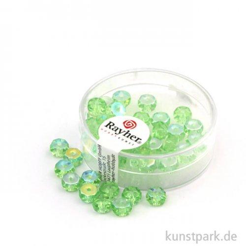 Glas Schliffperle RADL irisierend - 6x3 mm - 40 Stück 40 Stk. | Jaspis