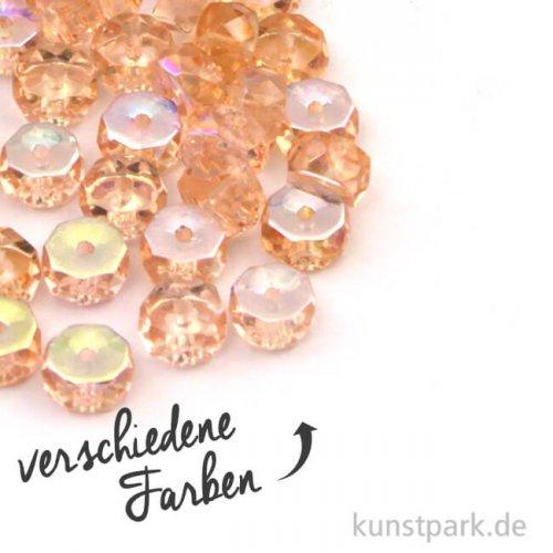 Glas Schliffperle RADL irisierend - 6x3 mm