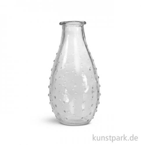 Glas Vase mit Punkten, 7cm Durchmesser, Höhe 14 cm