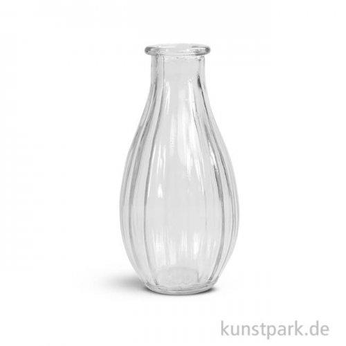 Glas Vase mit Streifen, 7cm Durchmesser, Höhe 14 cm