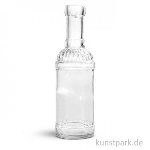 Glasflasche, Höhe 21 cm, Durchmesser 6,5 cm
