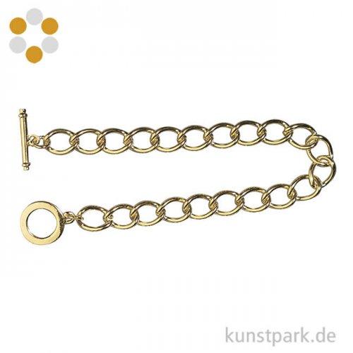 Gliederarmband mit Knebelverschluss, 18 cm Länge