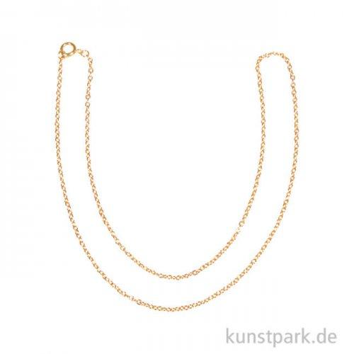 Gliederkette - Gold, verschiedene Längen 45 cm