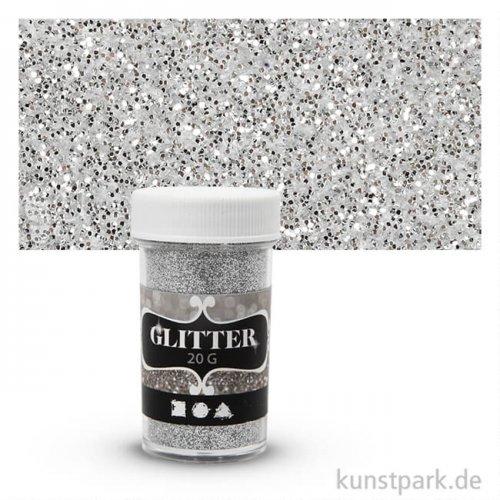 Glitter in Streudose 20g - Silber