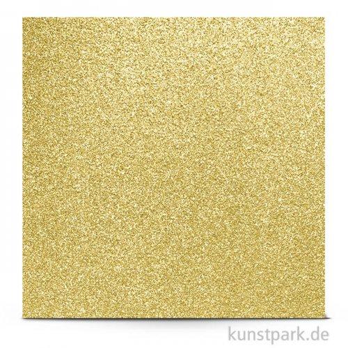 Glitter - Scrapbookingpapier, 200 g 30,5 x 30,5 cm   Champagner Gold