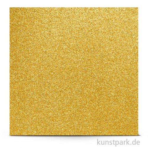 Glitter - Scrapbookingpapier, 200 g 30,5 x 30,5 cm | Gold