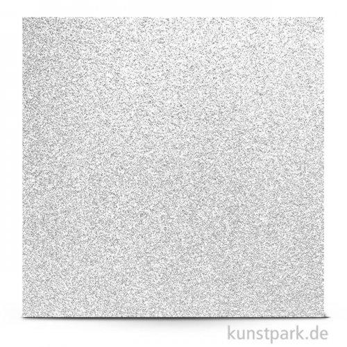 Glitter - Scrapbookingpapier, 200 g 30,5 x 30,5 cm | Weiß