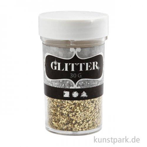 Glitterflocken - Gold, 1-3 mm, 30 g