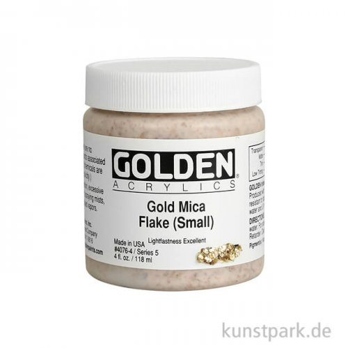 GOLDEN Acryl 119 ml - 4076 Gold Flocken (klein)
