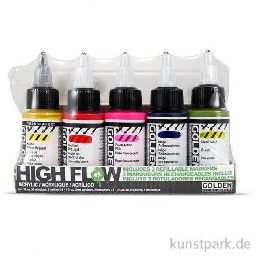 GOLDEN High Flow Acrylics Marker Set 5 x 30 ml