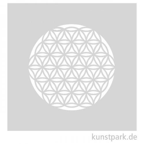 Grafische Schablonen - Blume des Lebens, Größe 100x100 mm