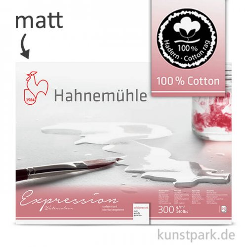 Hahnemühle EXPRESSION Aquarell Papier, 20 Blatt, 300g - matt