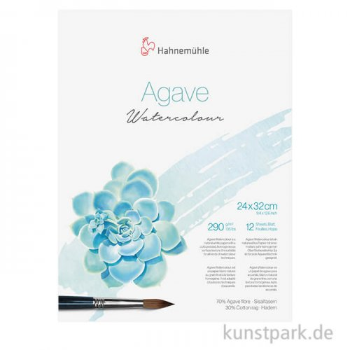 Hahnemühle Agave Watercolour Block, 12 Blatt, 290g 24 x 32 cm