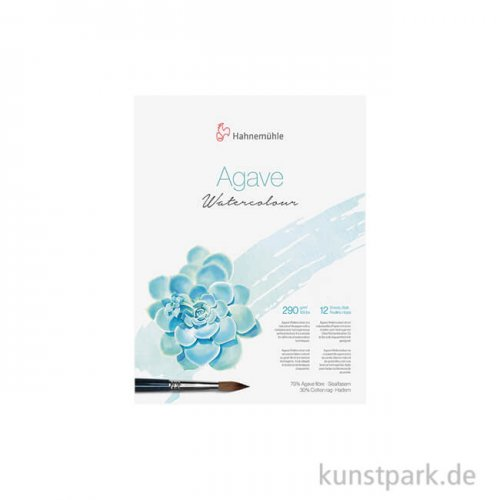 Hahnemühle Agave Watercolour Block, 12 Blatt, 290g 8 x 10,5 cm