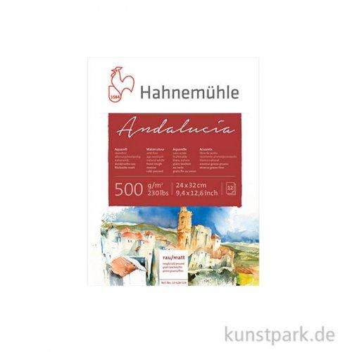 Hahnemühle ANDALUCIA Aquarellkarton, 12 Blatt, 500g rau/matt 36 x 48 cm