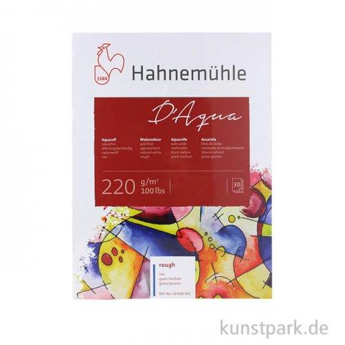 Hahnemühle DAQUA Aquarellpapier, 30 Blatt, 220g rau 17 x 24 cm