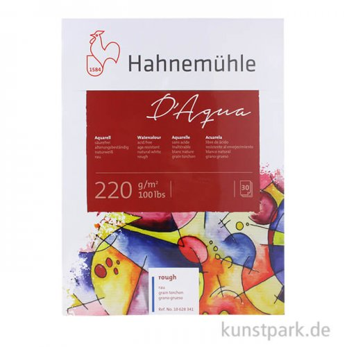 Hahnemühle DAQUA Aquarellpapier, 30 Blatt, 220g rau 30 x 40 cm