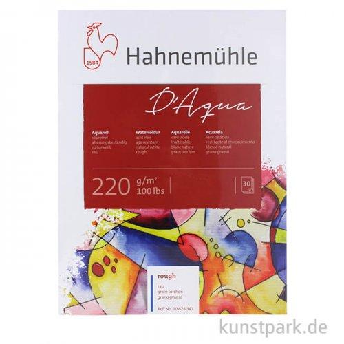 Hahnemühle DAQUA Aquarellpapier, 30 Blatt, 220g rau