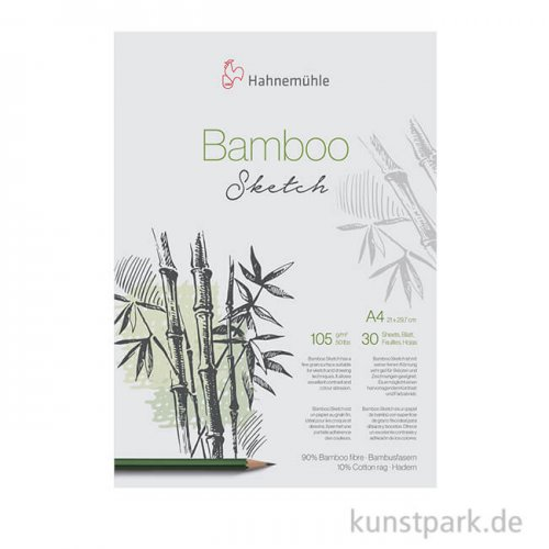 Hahnemühle BAMBOO Skizzenpapier, 30 Blatt, 105g DIN A4