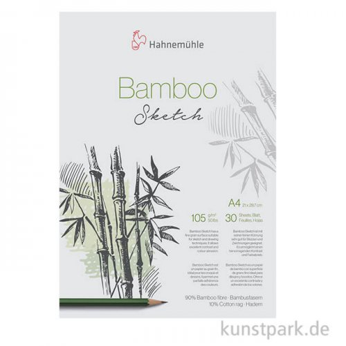 Hahnemühle BAMBOO Skizzenpapier, 30 Blatt, 105g