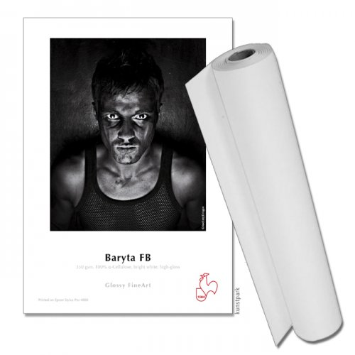 """Hahnemühle Baryta FB, 350g, 12m Rolle 24"""" Breite, 3"""" Core"""