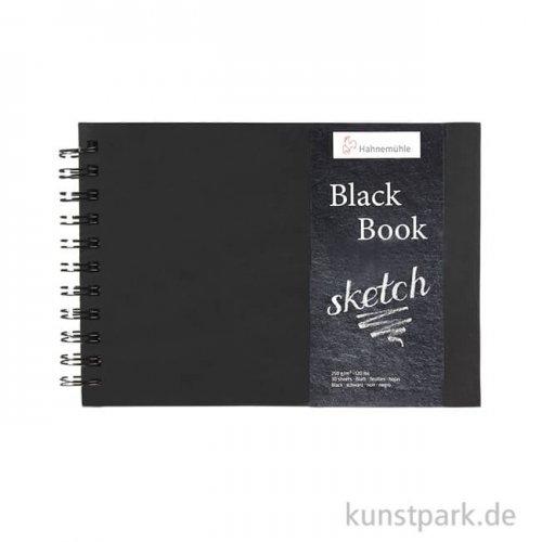 Hahnemühle BLACKBOOK, 30 Blatt, 250g, schwarzes Inhaltspapier DIN A5 (quer)